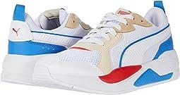 Puma White/Puma White/Tapioca/Palace Blue/High Risk Red