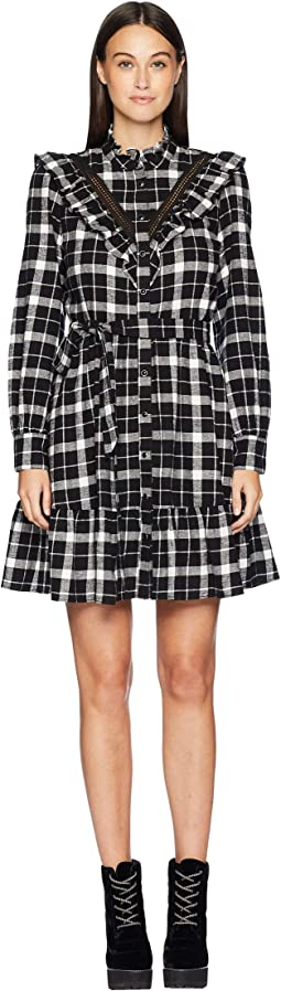 Broome Street Rustic Plaid Flannel Dress