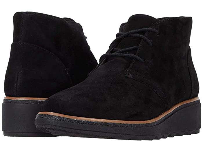 Vintage Boots, Retro Boots Clarks Sharon Hop Black Suede Womens Boots $129.95 AT vintagedancer.com