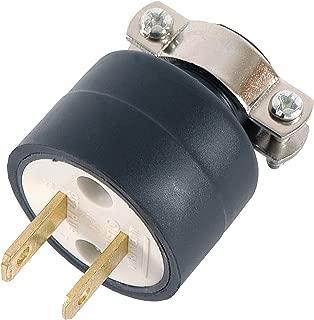 GE 52160 15A 125V Heavy Duty Polarized Plug with Metal Cord Clamp