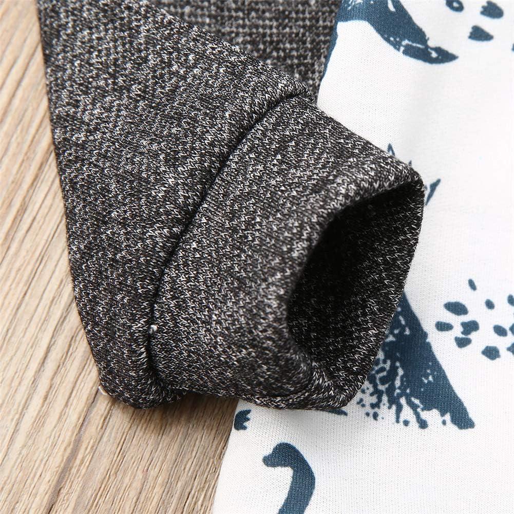 sudadera oto/ño Conjunto de ropa para beb/é con capucha y pantalones Geagodelia ch/ándal de manga larga sudadera con capucha para invierno