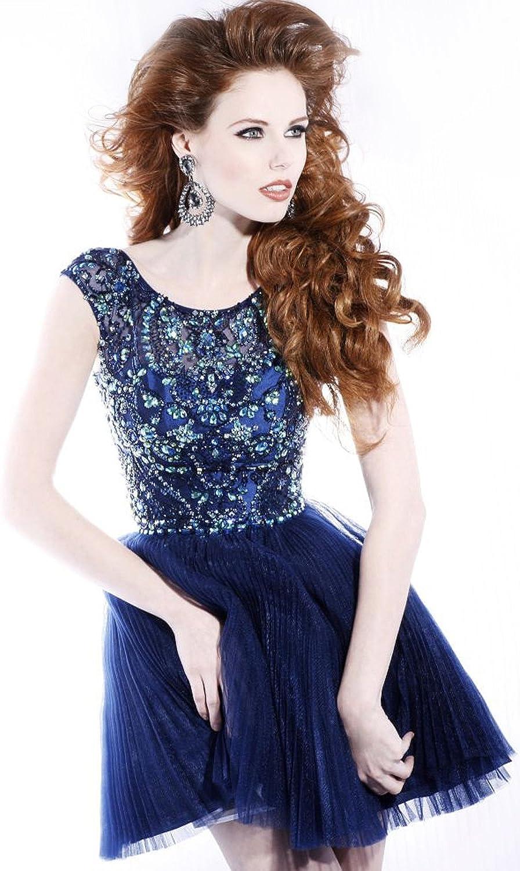 2013 Sexy ALine Princess Bateau Short Mini Crystal Beading Cocktail Dress