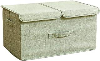 Boîtes de rangement avec couvercles, boîte de rangement Cube avec poignées, boîte de rangement pliable en tissu de coton, ...