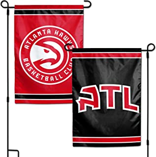 WinCraft NBA Atlanta Hawks Flag12x18 Garden Style 2 Sided Flag, Team Colors, One Size