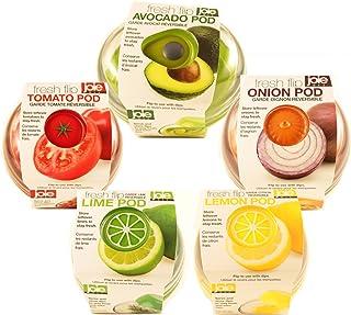 Produce Saver Container Set - Avocado, Tomato, Onion, Lime and Lemon Keeper