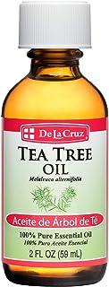 De La Cruz Australian Tea Tree Essential Oil, 100% Pure, Steam-Distilled, Bottled in USA 2 FL. OZ.