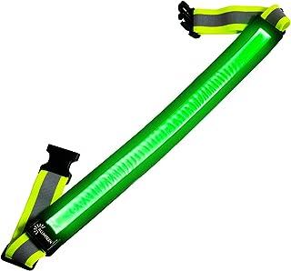 کمربند بازتابنده یواسبی - USB قابل شارژ - دنده دید قابل توجه برای راه اندازی، پیاده روی و دوچرخه سواری - متناسب با زنان، مردان و کودکان - کاملا قابل تنظیم و سبک وزن - ایمن تر از یک جلیقه بازتابنده - سبز، قرمز، آبی