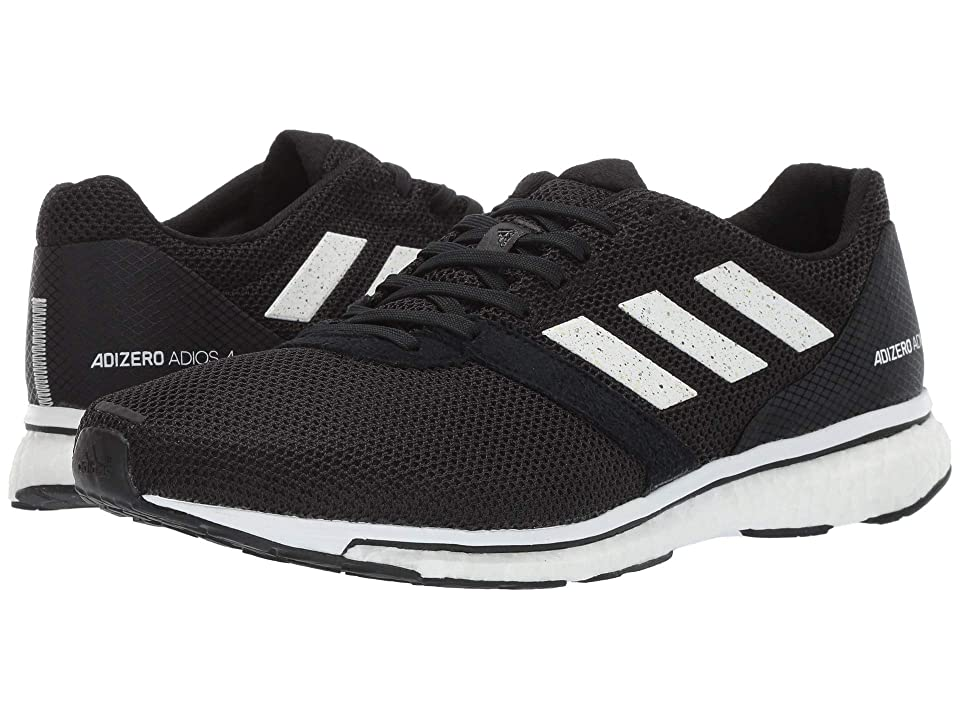Image of adidas Running Adizero Adios 4 (Core Black/Footwear White/Core Black) Men's Shoes