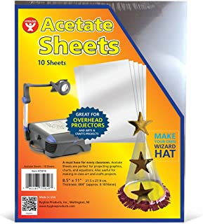 Hygloss Products Overhead Projector Sheets Acetate Transparency Film, For Arts And Craft Projects and Classrooms, Not for ...