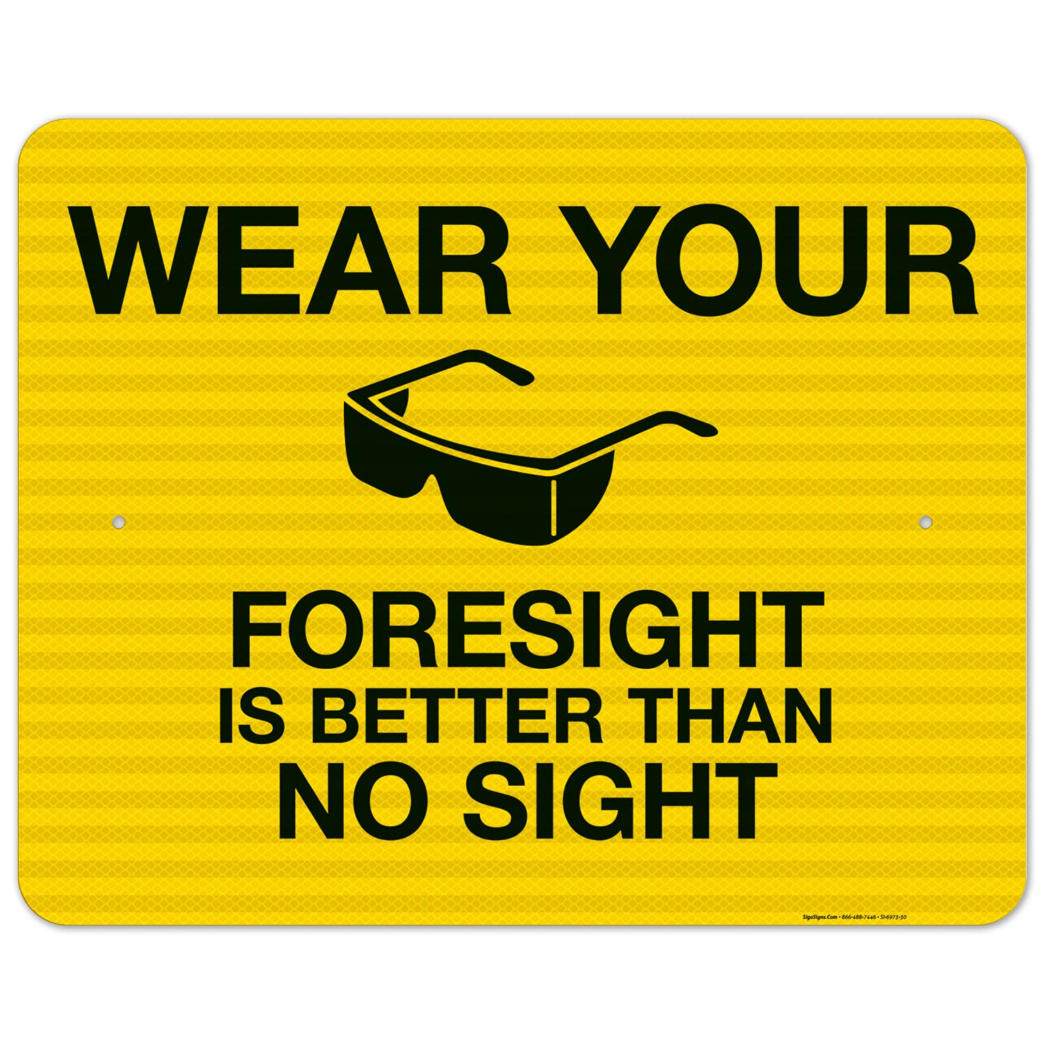 NEW before selling ☆ Caution Wear Your Wholesale Glasses Sign Reflective 24x30 Inches EGP 3M