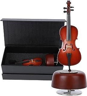 Okuyonic Matériel en Bois Boîte à Musique rotative Boîte à Musique pour Violoncelle Cadeau de décoration d'ornement Artisa...