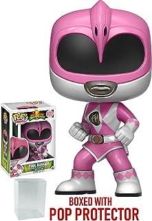 Power Rangers Funko Pop! Mighty Morphin Pink Ranger Funko Pop! Vinyl Figure (Bundled with Pop Box Protector CASE)