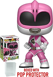 Funko Pop! TV: Mighty Morphin' Power Rangers Pink Ranger #407 Vinyl Figure (Bundled with Pop BOX PROTECTOR CASE)