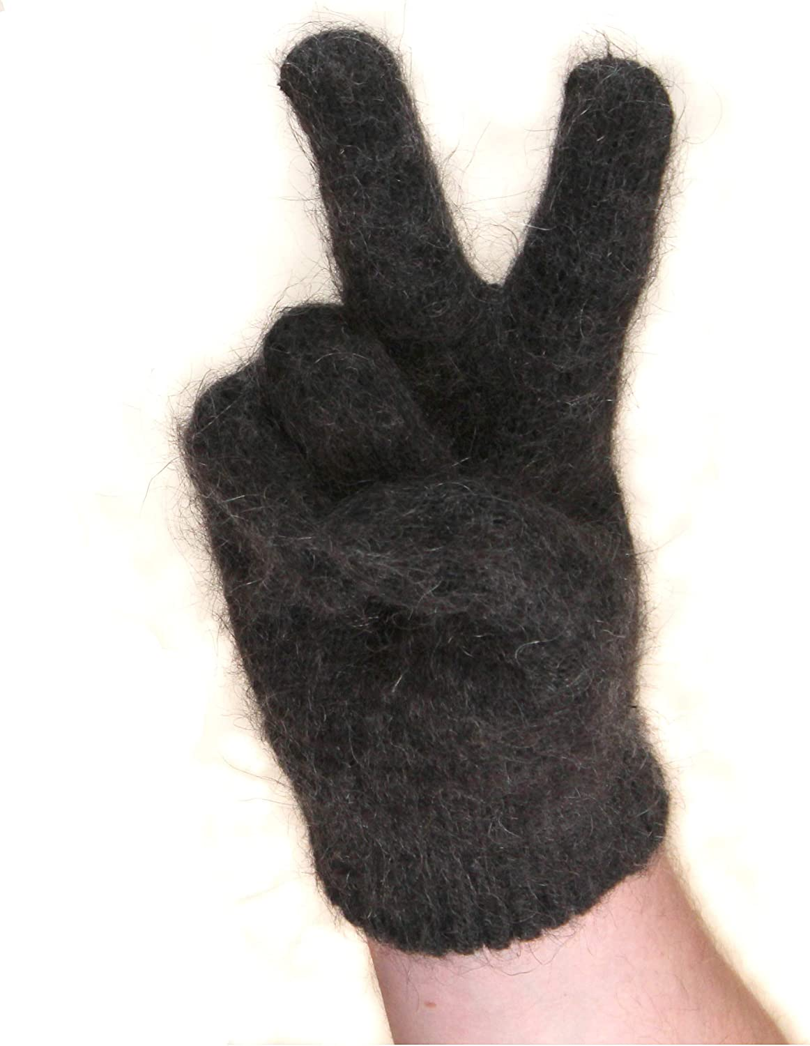 Warm Wool Gloves for Men Quality inspection Fluff Max 83% OFF Winter Cold Goat with