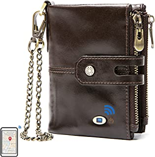 $26 » Sponsored Ad - Smart Bluetooth Tracker Wallet Finder Item Locator Record Men Wallets Vintage Crazy Horse Leather Purse (Co...