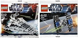 Lego Star Wars Star Destroyer & Tie Fighter Starship set - Polybag 30056 + 8028 edition Building Set