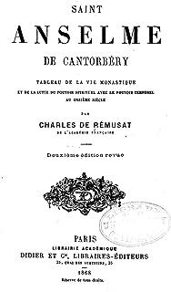 Saint Anselme de Cantorbéry, Tableau de la vie monastique (French Edition)