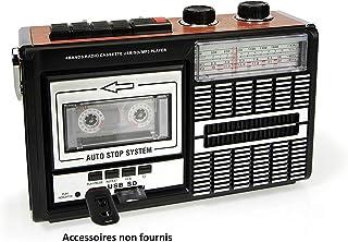 Ricatech PR85 - Reproductor y grabadora de casetes, Radio AM