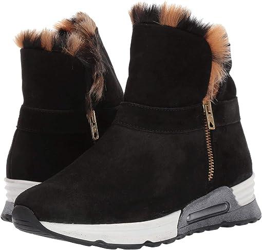 Black Zabby/Beige Pikka Faux Fur