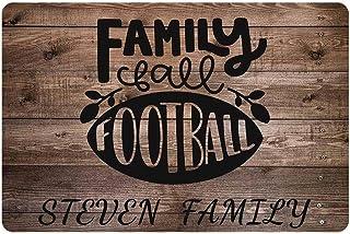 """Custom Doormat with Your Text, Family Football Name Doormat Indoor Entrance Outdoor Doormat 24"""" X 16"""" Family House Decorat..."""