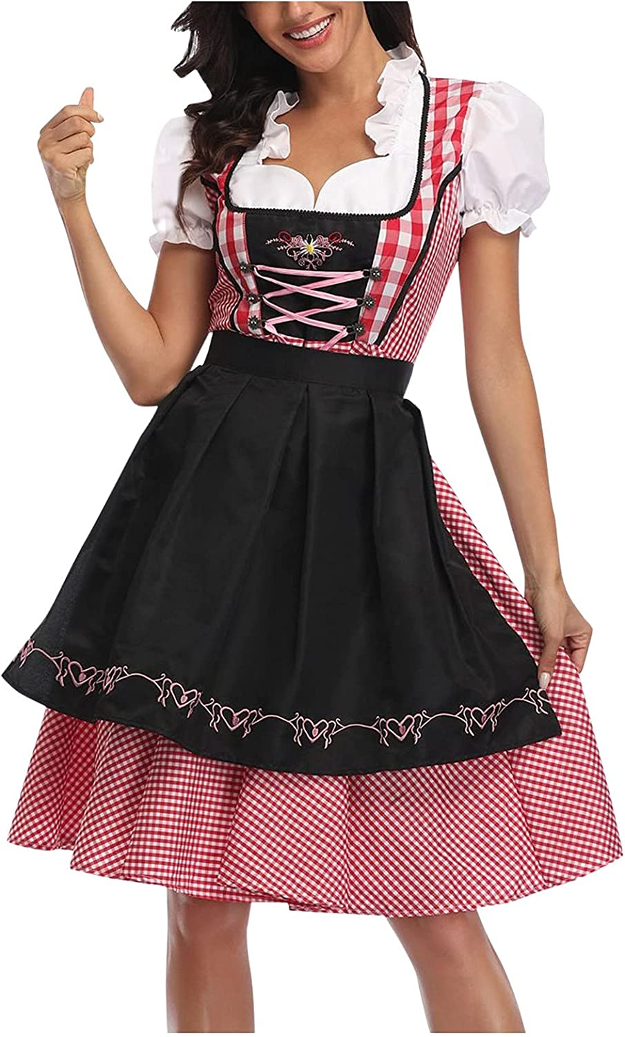 BFONE Women Bavarian Beer Maid Halloween Outfit Costume Ok Dress Fort Max 58% OFF Worth Mall