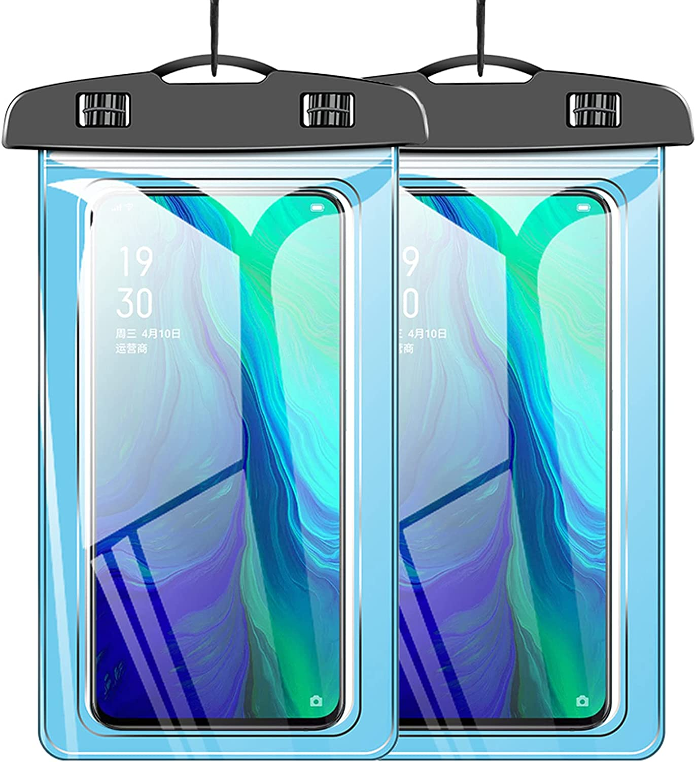 Eiles [2-Pack] Large Waterproof Cell Phone Pouch, Universal Waterproof Phone case, Dry Bag Outdoor Beach Bag for iPhone 12 11 Pro Max XSMax XR XS 8 7 Plus/Samsung Galaxy/LG/Oneplus up to 7