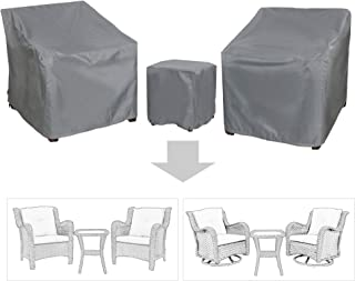 Baner Garden B15 3-Piece Outdoor Veranda Patio Garden Furniture Cover Set with Durable and Water Resistant Fabric…