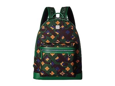 MCM Dieter Munich Lion Camo Nylon Backpack 40 (Eden) Backpack Bags