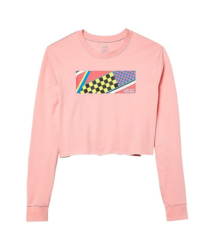 Vintage Sweaters, Retro Sweaters & Cardigan Ladies Vans Ramp Tested Long Sleeve Crop Tee Pink Icing Womens Clothing $25.99 AT vintagedancer.com