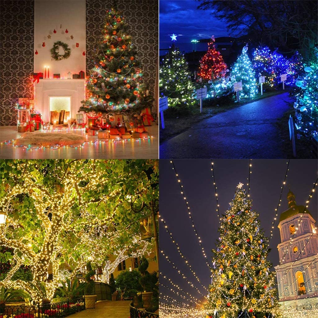 KELITE 800 LEDs Schnur-Lichter 100m 325ft Stecker in (UK oder EU) Lichterketten mit 8 Modi/Memory Timer for Weihnachten Weding Party-Garten Innenhof Dekorationen (Color : Warm White-30m*300leds) Warm White-20m*200leds