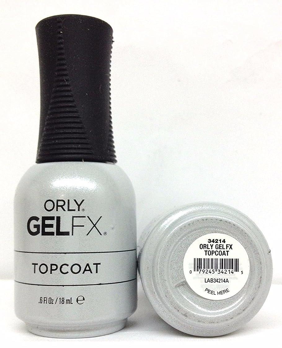 湖円形オリエンテーションOrly Gel FX - Top Coat - 0.6 oz / 18 mL