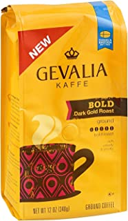 Gevalia Kaffe Ground Coffee Bold Dark Gold Roast, 12 OZ (Pack of 6)