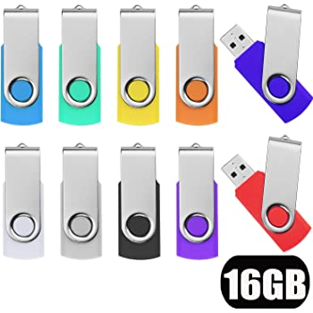 2GB Memorias USB 10 Piezas PenDrives Uflatek Giratoria Pen Drive 2 GB Portátil Unidad Flash USB 2.0 Almacenamiento de Datos Externo Multicolor: Amazon.es: Electrónica