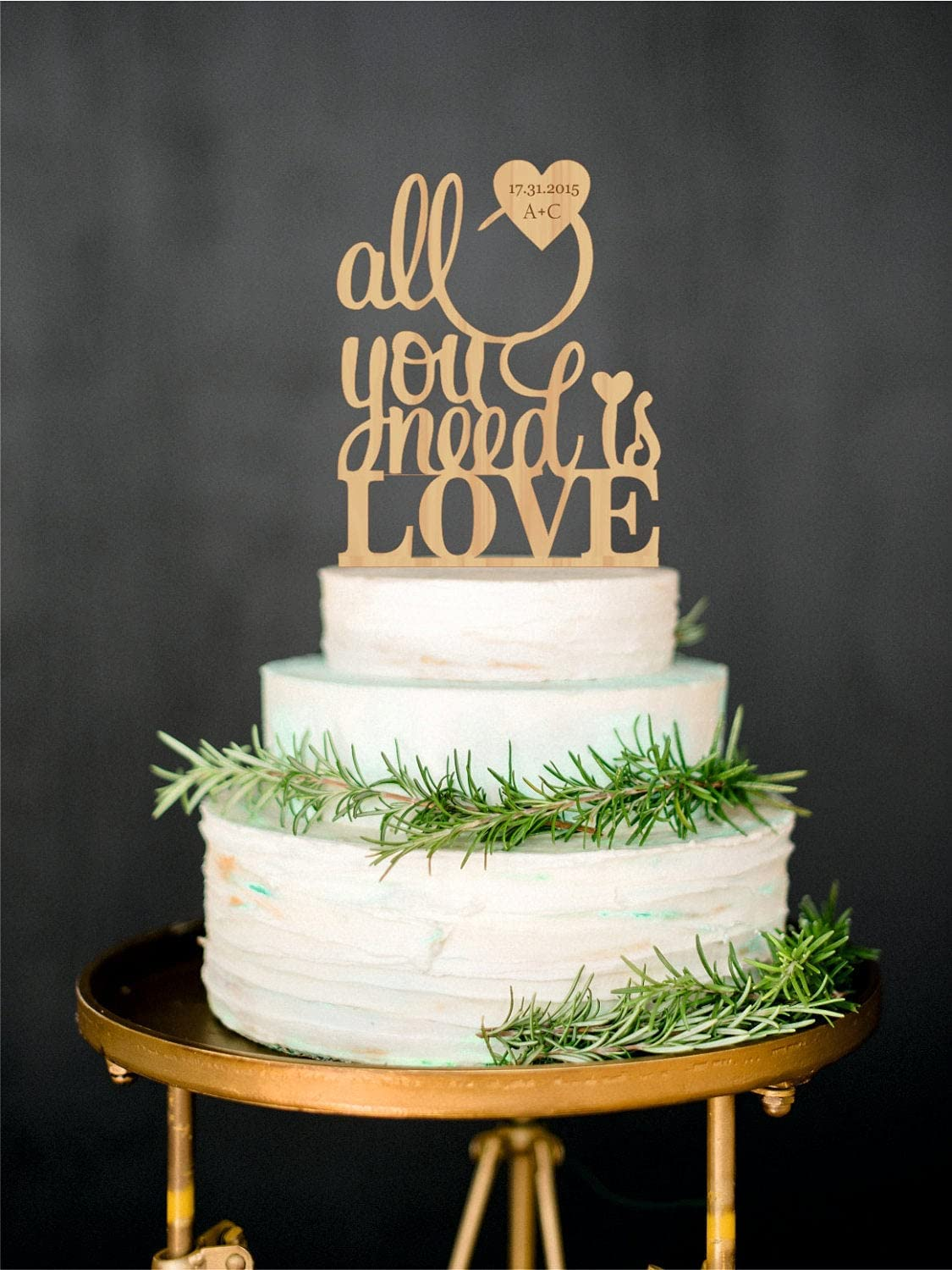 WTA1034 WTA - All You Need Rustic Topper is Love Wood Ranking TOP2 Outlet ☆ Free Shipping Cake