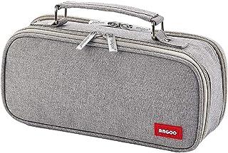 iSuperb Big Capacity Pencil Case Double Zipper Stationery Bag Pencil Holder Desk Organizer Portable Multi Compartments Mak...