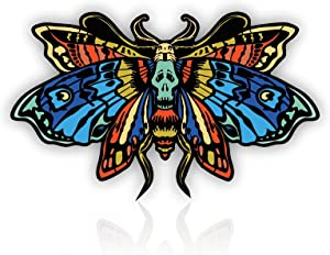A&B Traders' Butterfly Sticker - Gothic Stickers Room Decor For Bedroom Wall Decal, Perfect Halloween Stickers For Water Bottles, UV Protection Day of the Dead Horror Vinyl Decal For Cars, Laptops. (3.1 INCH)