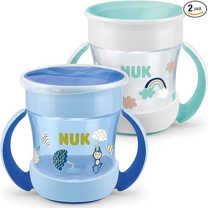 7870 opinioni per Nuk Mini Magic Cup Bicchiere salvagoccia, Multicolore (Blu/Verde Menta), 160 ml