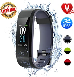 I-SWIM Fitness Tracker, Activity Tracker Watch with Heart Rate Monitor, Sleep Monitor,Calorie Counter, IP68 Waterproof Smart Fitness Band with Step Counter, Pedometer Watch (Black)