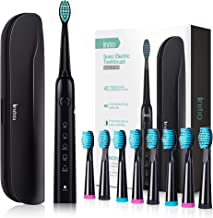 Initio Sonic Electric Toothbrush, 5 Modes with Smart Timer, 8 Brush Heads & Travel Case Included, Rechargeable Toothbrush ...
