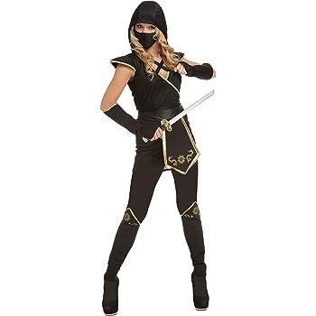 My Other Me Me-204894 Disfraz de ninja para mujer, color negro, XS ...