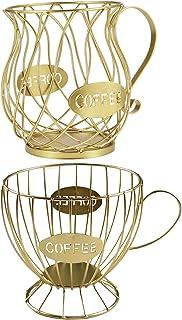 Baoblaze Lot de 2 Porte-dosette de Café, Organisateur de Support de Carrousel de Stockage de Café de Grande Capacité, Pani...