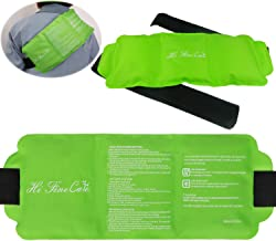 Pain Relief Flexible Ice Pack for Injuries by HiFineCare | Hot & Cold Therapy Reusable Gel Pack/Heat Wrap - Great for Back, Waist, Shoulder, Neck, Ankle, Knee and Hip (Large Pack:14