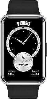 ساعة سمارت 1.64 بوصة مقاومة للماء بشاشة اموليد تعمل باللمس فيت Elegant من هواوي - اسود ميدنايت - ضمان محلي