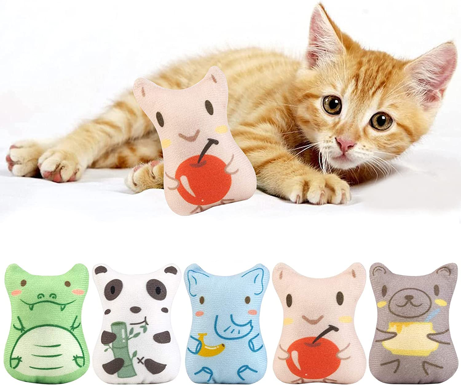 Holiday Tails All stores are sold Catnip Toys for Fixed price sale Cats Chew Toy Plush 5PCS - Cat
