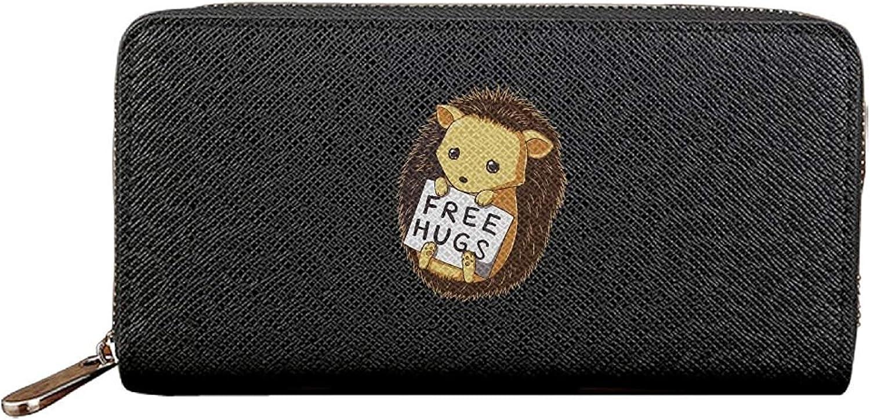 Long Fashion Purse Purse Purse Cute Free Hugs PU Wallets Cit Card Clutch Huge Storage Capacity B07MVNLHV8 ab4829