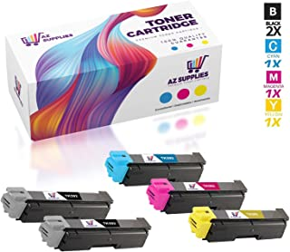 AZ Compatible Toner Cartridge Replacement for Kyocera TK 592 use in FS-C2026, C2126, C2526, C2626, C5250DN, M6026, M6526, P6026 (Black, Cyan, Magenta, Yellow, 5-Pack)