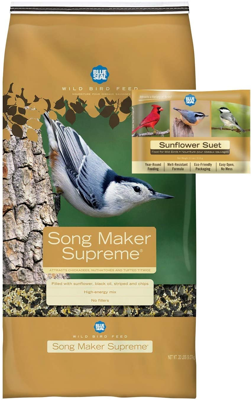 BLUE SEAL Song Max 90% Max 73% OFF OFF Maker Supreme Bird Cake Seed Suet Bun Sunflower