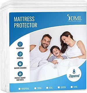 DMI Zippered Plastic Mattress Protector, Waterproof Mattress Cover, Full Size, White