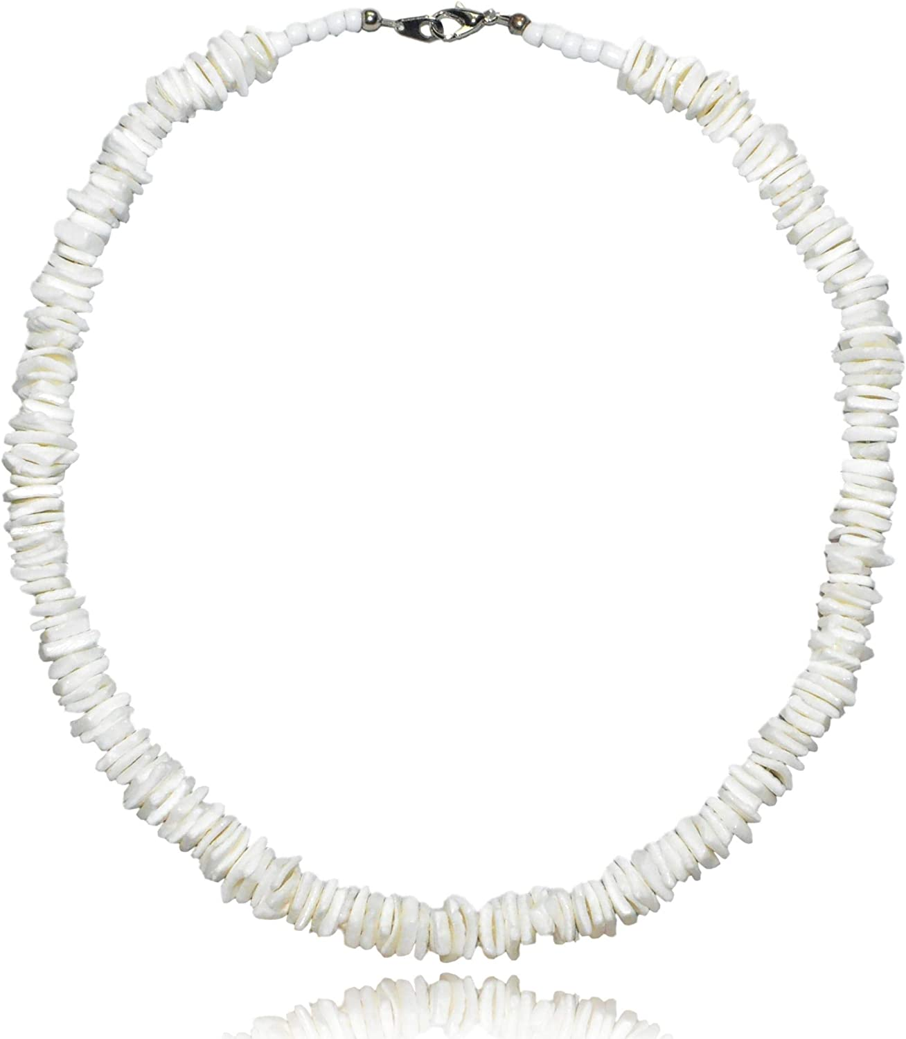 Native Treasure - White Rose Clam Chips Puka Shell Necklace with Lobster Clasp