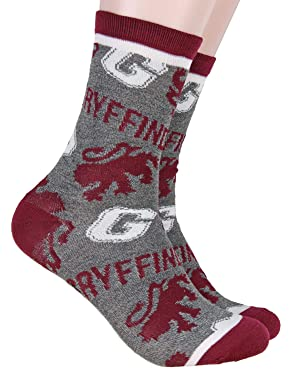 Harry Potter Gryffindor House Mid-Calf Women's Adult Crew Socks